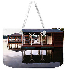 Dock Reflections Weekender Tote Bag by Catie Canetti