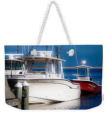 Weekender Tote Bag featuring the photograph Docked And Quiet by Kendall McKernon