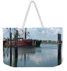 Docked At Barnegat Light Weekender Tote Bag