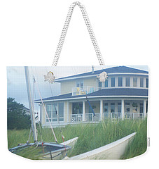 Docked In The Yard Va Beach Weekender Tote Bag by Suzanne Powers
