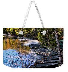 Docked Row Boats Weekender Tote Bag