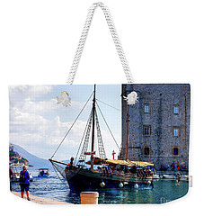 Docking In Dubrovnik Harbour Weekender Tote Bag