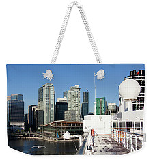 Docking In Vancouver Weekender Tote Bag