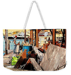 Docks At Port Aransas Weekender Tote Bag