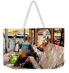 Docks At Port Aransas Weekender Tote Bag