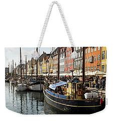 Dockside At Nyhavn Weekender Tote Bag by Eric Nielsen