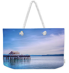 Weekender Tote Bag featuring the photograph Dockside by Spencer McDonald
