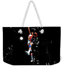 Doctor J Over The Top Weekender Tote Bag by Brian Reaves
