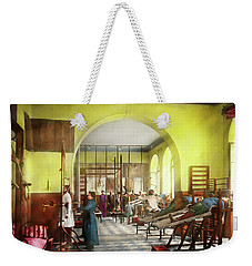 Weekender Tote Bag featuring the photograph Doctor - Physical Therapist - Welcome To The A Traction 1918 by Mike Savad