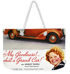 Dodge Automobile Ad, 1936 Weekender Tote Bag