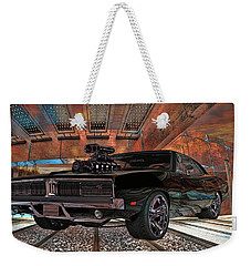 Weekender Tote Bag featuring the photograph Dodge Charger R/t 1969 Hemi by Louis Ferreira