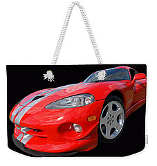 Dodge Viper Gts Weekender Tote Bag by Gill Billington