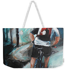 Dodging Trees Weekender Tote Bag by Donna Tuten