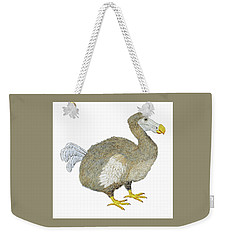 Weekender Tote Bag featuring the painting Dodo Bird Protrait by Thom Glace