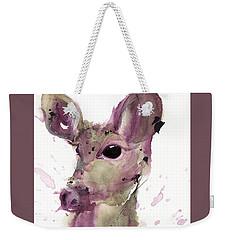 Weekender Tote Bag featuring the painting Doe by Dawn Derman