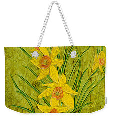 Daffodils Too Weekender Tote Bag