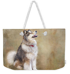 Weekender Tote Bag featuring the digital art Master Of The Domain by Colleen Taylor