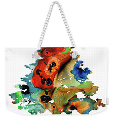 Weekender Tote Bag featuring the painting Dog Art - Contemplation 2 - By Sharon Cummings  by Sharon Cummings