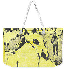 Dog At The Beach - Black Ivory 3 Weekender Tote Bag