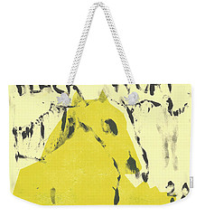 Dog At The Beach - Black Ivory 4 Weekender Tote Bag