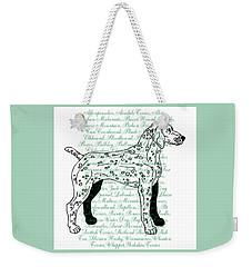 Dog Breeds Weekender Tote Bag