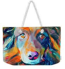 Dog Colorful Portrait Weekender Tote Bag