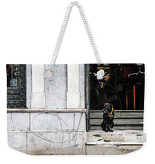 Dog From The Block Weekender Tote Bag by Silvia Bruno