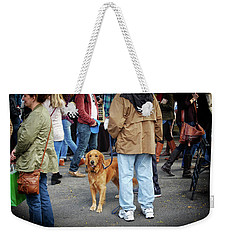 Dog In A Crowd Weekender Tote Bag