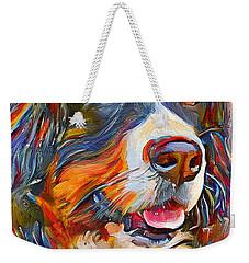 Dog In Colors Weekender Tote Bag