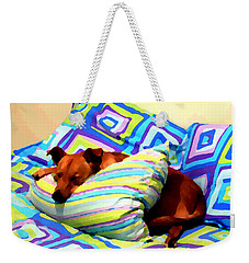 Dog Nap - Oil Effect Weekender Tote Bag