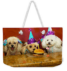 Dog Party Weekender Tote Bag