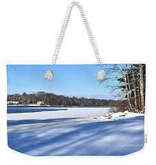 Dog Pond In Winter 1 Weekender Tote Bag