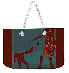 Dog Walker Weekender Tote Bag