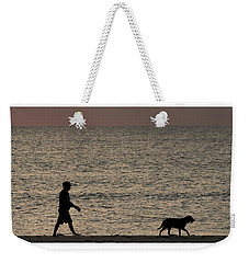 Dog Walker Dawn Delray Beach Florida Weekender Tote Bag