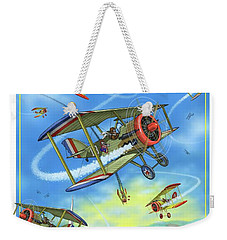 Dogfight Weekender Tote Bag by Scott Ross