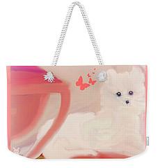 Weekender Tote Bag featuring the digital art Doggie Art  My Love by Sherri Of Palm Springs