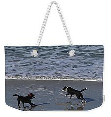 Weekender Tote Bag featuring the photograph Doggie Fun by Nareeta Martin