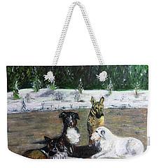 Dogs Having A Meeting Weekender Tote Bag