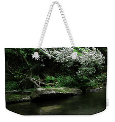 Rhododendron Along The River Weekender Tote Bag