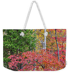 Dogwood And Cedar Weekender Tote Bag by Tim Fitzharris