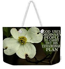Weekender Tote Bag featuring the photograph Dogwood Bloom / Flower by James C Thomas
