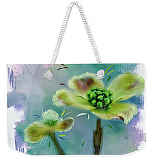 Weekender Tote Bag featuring the photograph  Dogwood Blossom by Mary Timman
