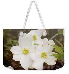 Dogwood Blossom Trio Weekender Tote Bag
