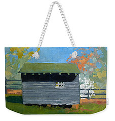 Dogwood Farm Shed Weekender Tote Bag by Catherine Twomey