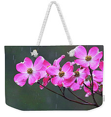 Dogwood Flowers In The Rain 0552 Weekender Tote Bag