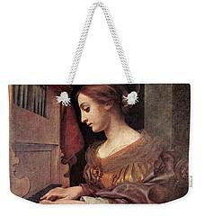 Dolci Carlo St Cecilia At The Organ Weekender Tote Bag by Carlo Dolci