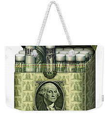 Dollar Cigarettes Weekender Tote Bag by James Larkin