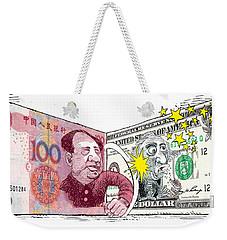 Dollar Vs Yen Weekender Tote Bag
