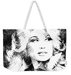 Dolly Parton Bw Portrait Weekender Tote Bag by Mihaela Pater