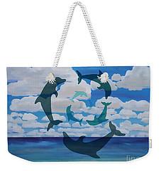 Dolphin Cloud Dance Weekender Tote Bag